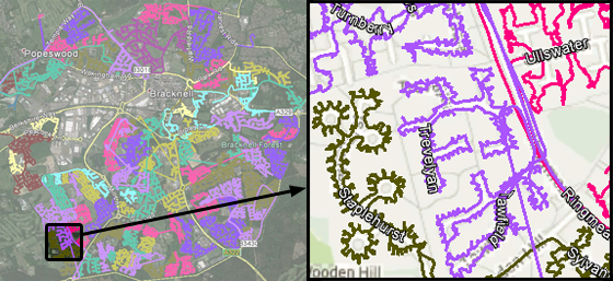 Leaflet Distribution In Berkshire - GPS Tracked Image